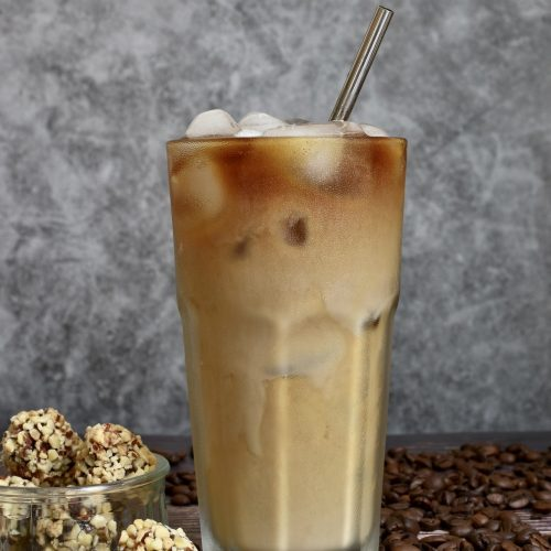 Iced coffee on the table